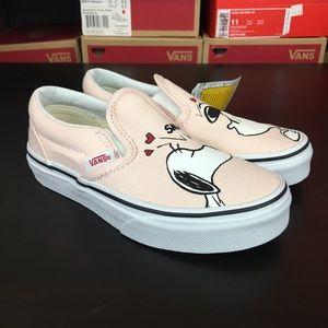 Vans Peanuts Slip On Smack Pearl Pink Girls Kids